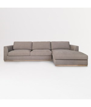 Maddox 2 Pc Sectional RAF, French Latte and French Oak