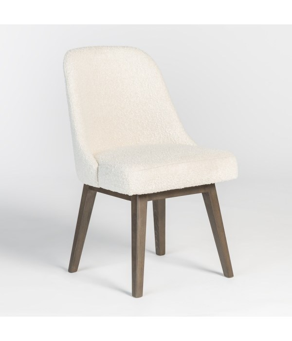 Jackie Dining Chair, Warm Cotton, Moderna Brown