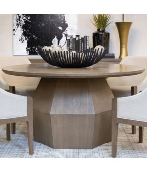 Baylor Round Dining Table, Mocca Mist