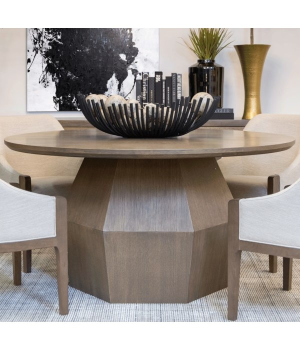 Baylor Round Dining Table, Mocca Mist