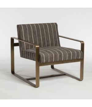 Empire Occasional Chair, Revere Dusk and Aged Brass