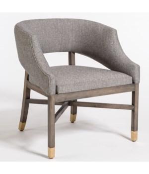 Wyatt Dining Chair, Modern Tweed, Distressed Beechwood