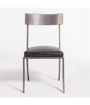 Marin Dining Chair, Aged Obsidian, Burnished Riviera