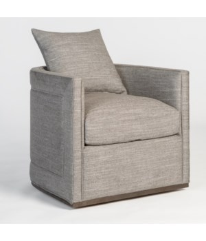 Landon Swivel Chair, Smokey Flax and Dark Grain Mocha