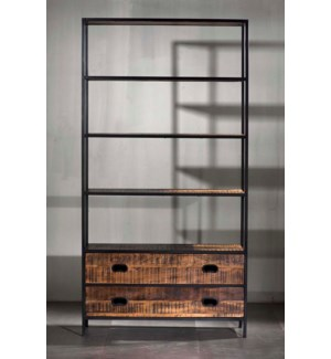 "Milano Two Drawer 43"" Bookshelves"