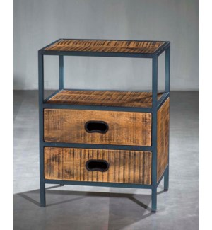 Milano 2 Drawer Side Table