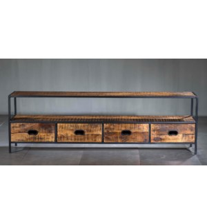 Milano 4 Drawer Media Console