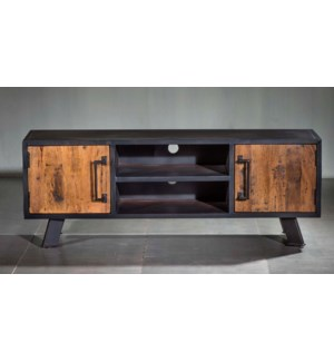 Roma 2 Cabinet, Double Shelf Tv Console