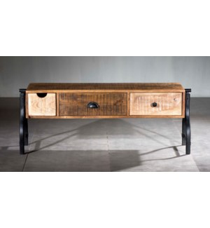 Industrial Mosaic 3 Drawer TV Console
