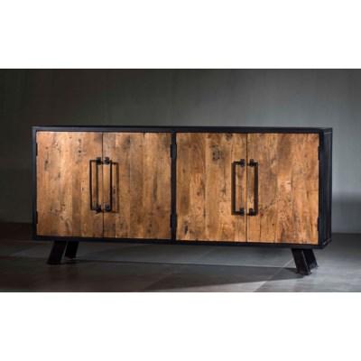 Roma Double Cabinet Solid Wood Iron Credenza All Furniture Villa2