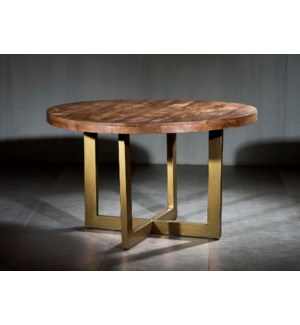 Wooden Iron Dining Table Modern Base
