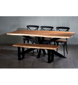 Artisian Rectangle Dining Table Double X Base