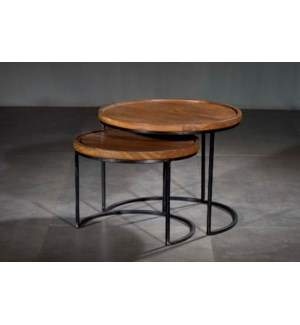 Round Nesting Accent Tables Set 2