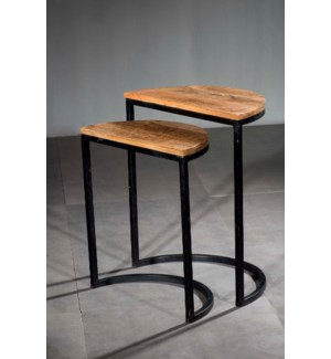 Half Moon Nesting Table