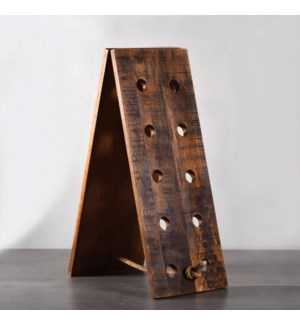 Wooden Wine Bottle Rack - Medium