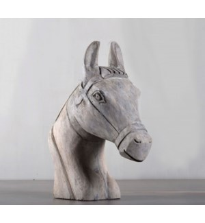 Wood Horse Head Scultpture