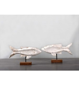 Wooden Fish Set of Two