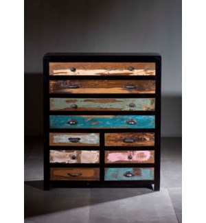 Wooden 10 Drawer Cabinet