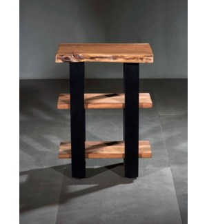 Artisian Side Table 2 Shelf