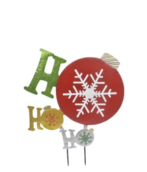 HO HO HO ORNAMENT YARD ART CS. PK.: 6