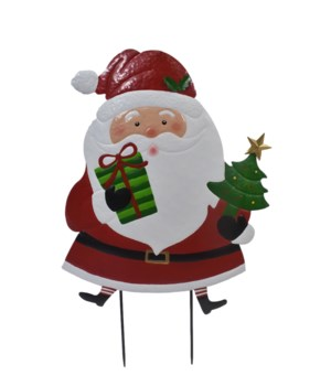 TIN SANTA W/TREE YARD ART CS. PK.: 6