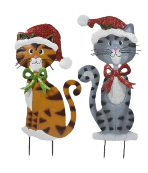 2 ASST TIN CATS W/HAT CS. PK.: 12