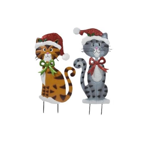 2 ASST TIN CATS W/HAT CS. PK.: 12