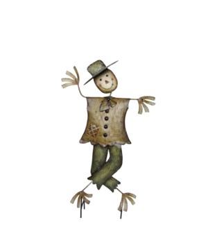 TIN FULL BODY SCARECROW LAWN STAKE CS. PK.: 6