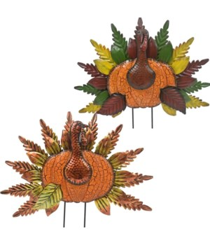 TIN WELCOME TURKEY YARD ART CS. PK.: 6