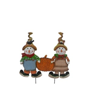 TIN SCARECROW PUMPKIN FAMILY CS. PK.: 6