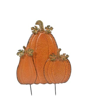 TIN TRIPLE PUMPKIN TALL PILE CS. PK.: 6