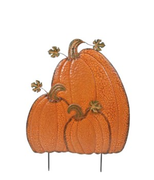 TIN TRIPLE PUMPKIN SQUASHED PILE CS. PK.: 6