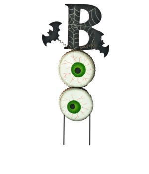 """BOO"" EYEBALL LAWN STAKE CS. PK.: 12"