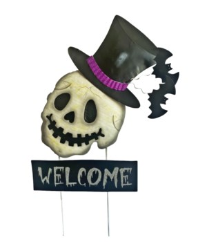 TIN WELCOME SKULL YARD ART CS. PK.: 12