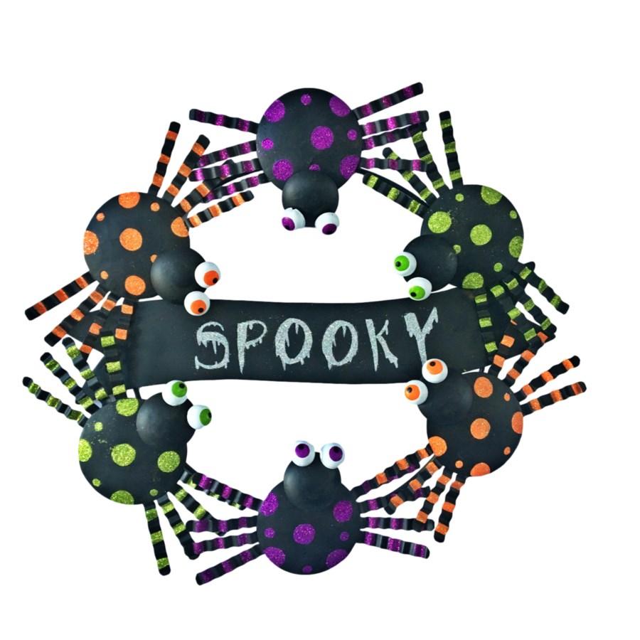 TIN SPIDER WREATH CS. PK.: 12