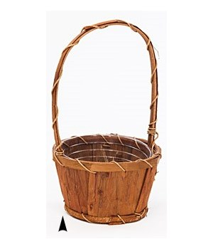"19/8316 6.5"" ROUND BARK BASKET CS. PK.: 48"