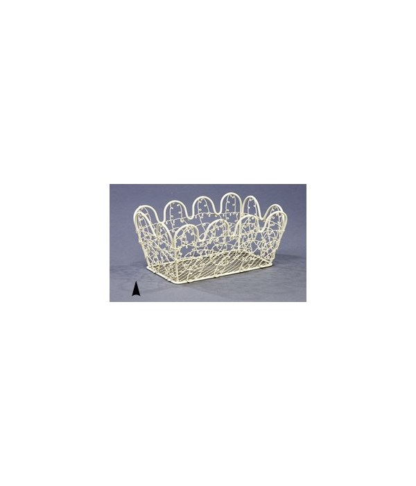 2515W SCALLOPED WIRE CONTAINER CS. PK.: 100