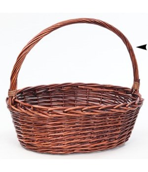 29/005M OVAL STAINED WILLOW BASKET CS. PK.: 12