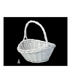 29/080W WHITE OVAL WILLOW BASKET CS. PK.: 40