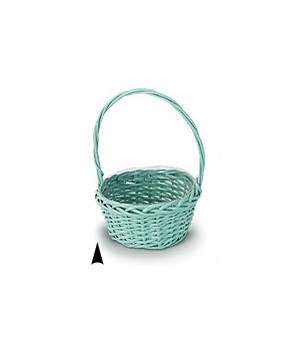 """29/103/8B BLUE 8"""" ROUND WILLOW BASKET W/LINER CS. PK.: 36"""