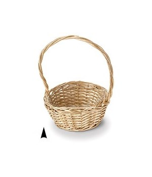 """29/103/8G GOLD  8"""" ROUND WILLOW BASKET W/LINER CS. PK.: 36"""