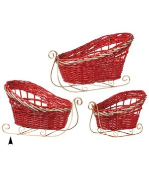 29/1124/R S/3 FANCY RED SLEDS CS. PK.: 6