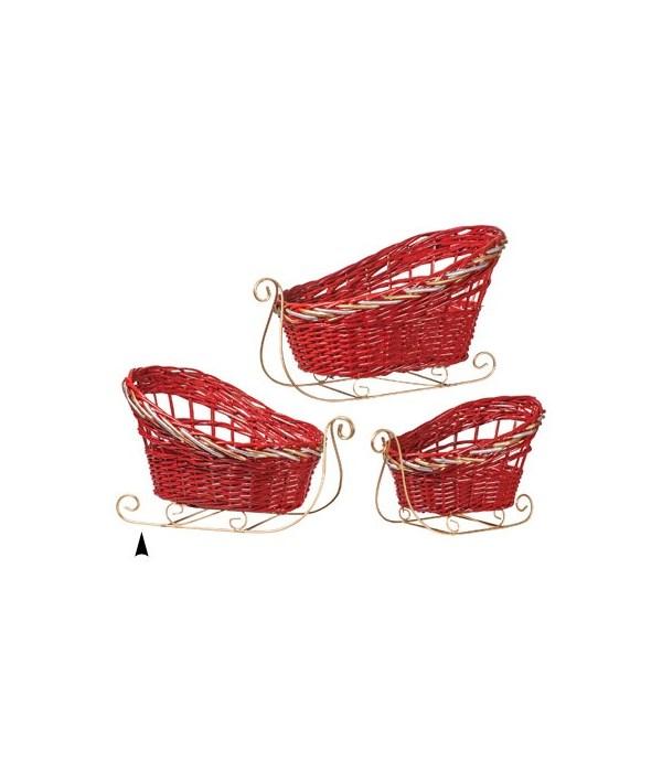 29/1124/R S/3 FANCY RED SLEDS CS. PK.: 6