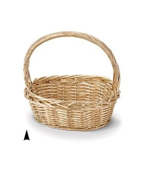 29/1170-14 GOLD OVAL WILLOW BASKET CS. PK.: 24