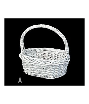 29/1170W WHITE OVAL WILLOW BASKET CS. PK.: 24