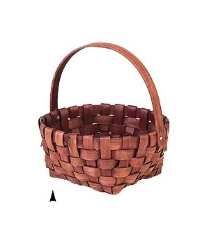 29/131H SWIVEL HANDLE WOOD BASKET CS. PK.: 60