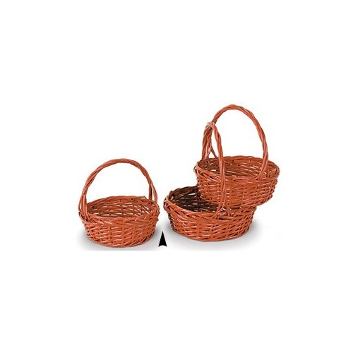 29/1345R S/3 RED ROUND WILLOW BASKETS CS. PK.: 12