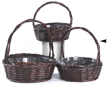 29/1345RA S/3 ROUND STAINED BASKETS CS. PK.: 12