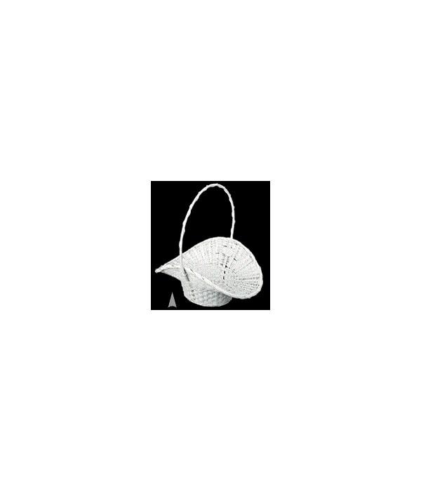 29/1721W WHITE PRINCESS BASKET W/LINER CS. PK.: 100