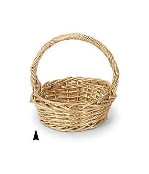 """29/218-14 GOLD 12.5"""": ROUND WILLOW BASKET CS. PK.: 24"""